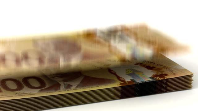 Money Fall Canadian Dollar video