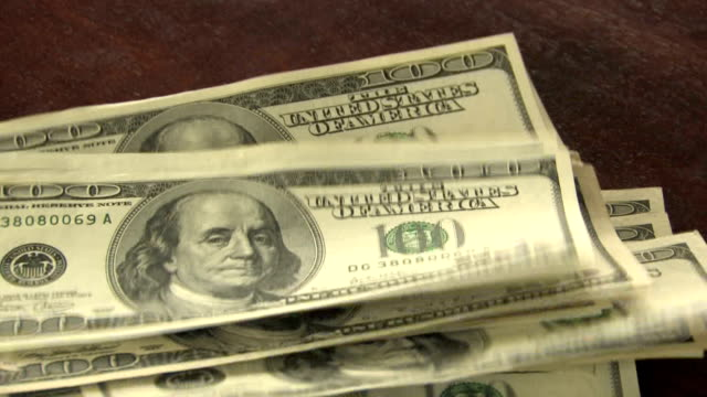 Money Falling In Pile video