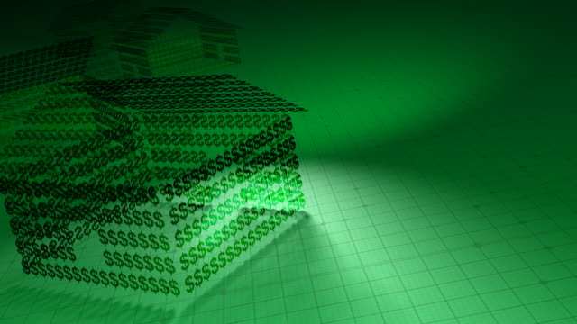 Money House Made of Dollar Symbols video