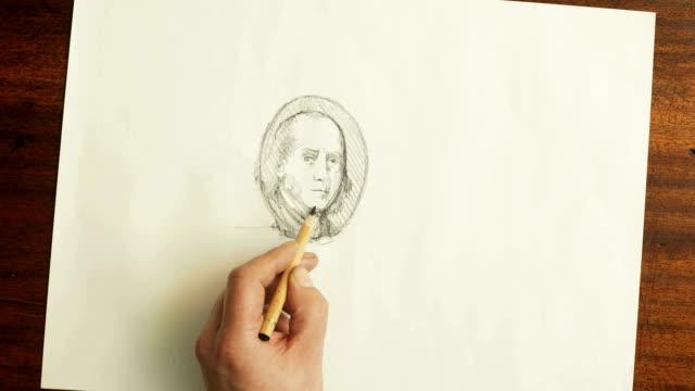 Money, Hundred dollars drawn   MO video