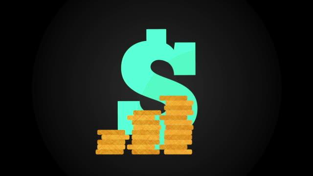 Money icon design, Video Animation video