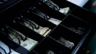 Money in Cash Register video