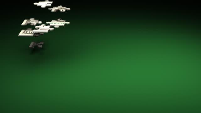 (HD1080) Money Puzzle Solution, LOOP video