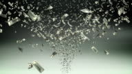 Money tornado - loopable, HD video
