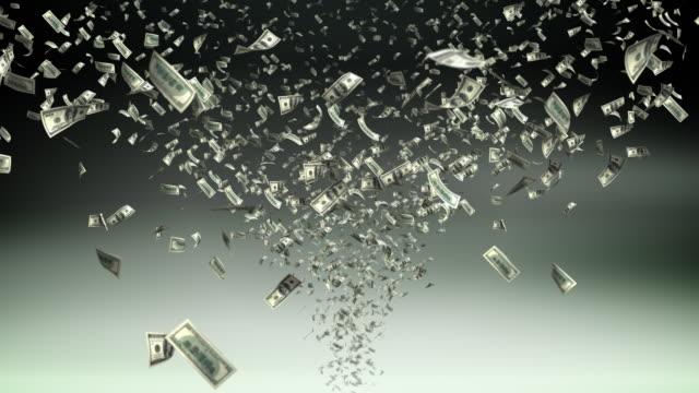 Money tornado - loopable, HD video