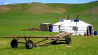 Mongolian ger camps with solar power video