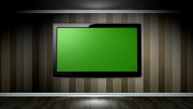 Monitor in Room, with Green Screen video