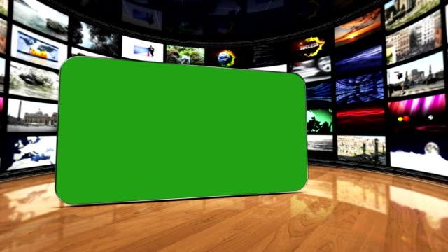 Monitors Room, and Green Screen Monitor, Loop video
