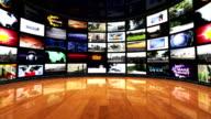 Monitors Room Background, Loop video