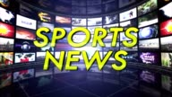 SPORTS NEWS,  Monitors Room, Rendering Animation Background, Loop video