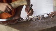 Monk Carving thai pattern video