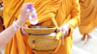 Monk ,Novice beg of food video