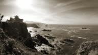 monochromatic coastline background video