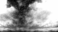 Monochromatic Storm Clouds with Snow Falling Loop video
