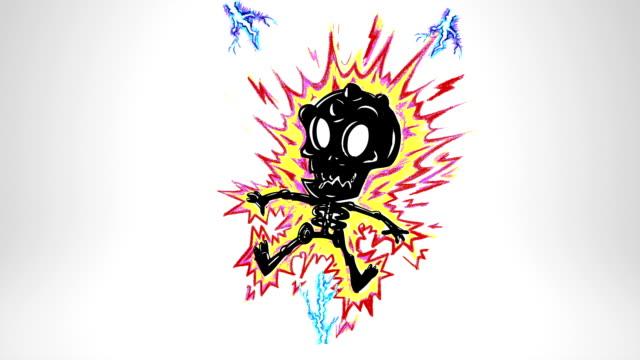 Monster death. Lightning. Luma matte. video