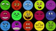 Monster Smileys, Seamless Loop video