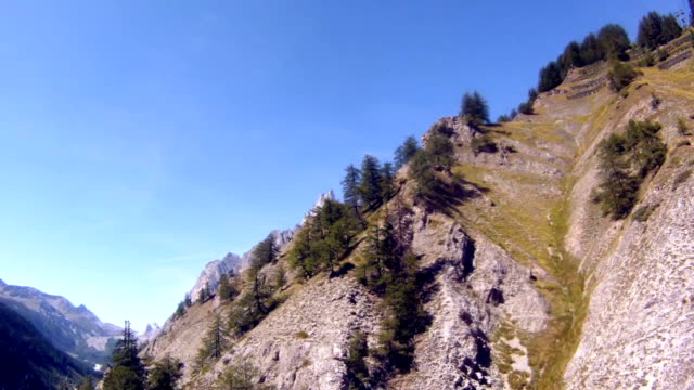 Mont Blanc heights with cable car video