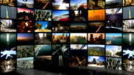 Montage 3D digital images of cities in travel locations video
