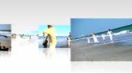 Montage 3D Family Beach Images video