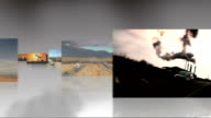 Montage 3D images of fossil fuel produced energy video