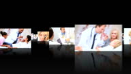 Montage 3D images of medical professionals with patients video