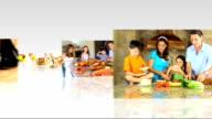 Montage 3D Images Preparing Eating Healthy Food video