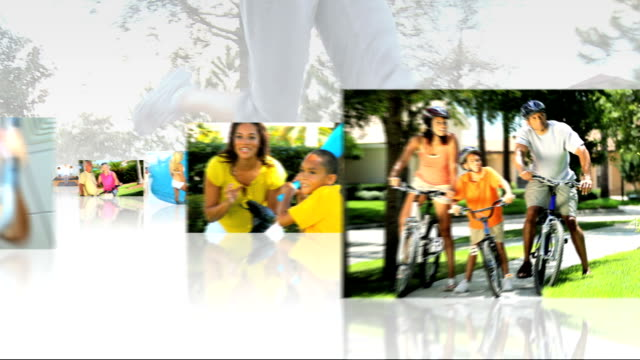 Montage 3D Images Sport Exercise Healthy Lifestyle video