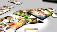 Montage 3D Tablet Images Ethnic Couples Lifestyle video