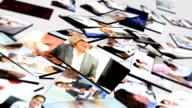 Montage 3D tablet of medical hospital doctors video