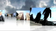 Montage 3D view featuring Multi Ethnic financial business people video