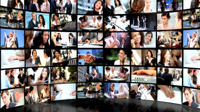 Montage 3D view featuring successful female business people video