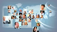 Montage Business People USA Shape Map CG Global Communications video
