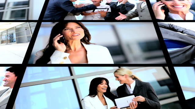 Montage Business People Wireless Tools video
