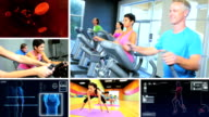 Montage CG Images Physical Exercise video
