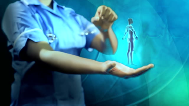 Montage Digital Graphics Rotating 3D Male Figure Health Research video