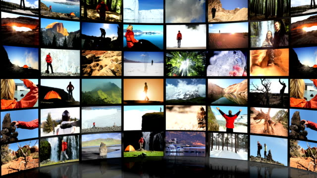 Montage Digital Wall Outdoor Lifestyle Travel Locations video