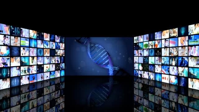 CG montage futuristic medical monitor scientific research human video