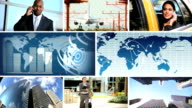 Montage Global Business Travel Communication video