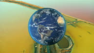 Montage Global View Earth Environment video