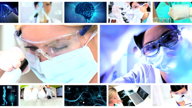 Montage Images 3D Virtual Medical Research video