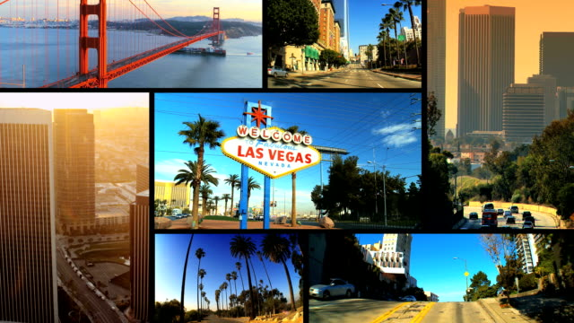 Montage Images of American Cites, USA video