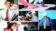 Montage Images of Architect Working with Client video