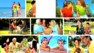 Montage Images of Modern Caucasian Family Lifestyle video