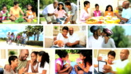 Montage Images of Modern Ethnic Family Lifestyle video