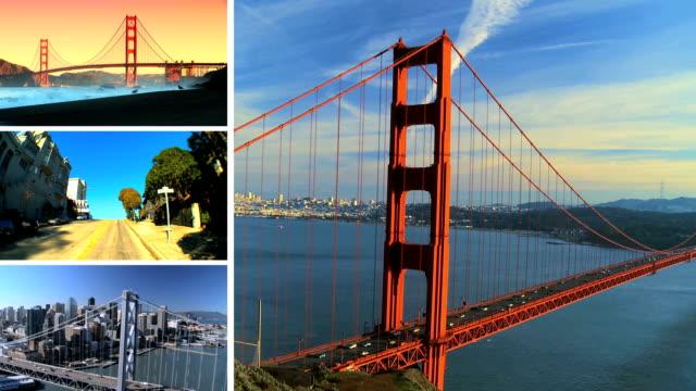 Montage Images Scenes San Francisco, USA video