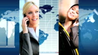 Montage Modern Business People Global Success video