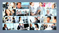 Montage Multi Ethnic Business People With Wireless Technology video