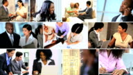 Montage Multi Ethnic Business People Working Technology video