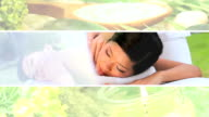 Montage of Asian Female Enjoying a Spa Lifestyle video