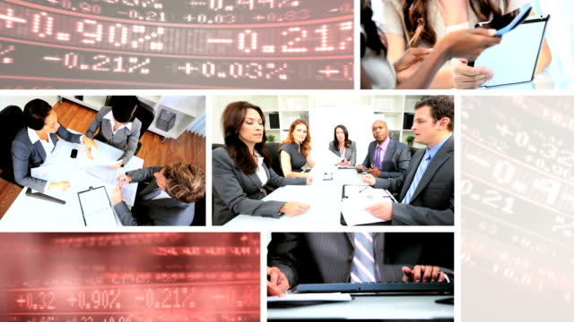Montage of business management people video